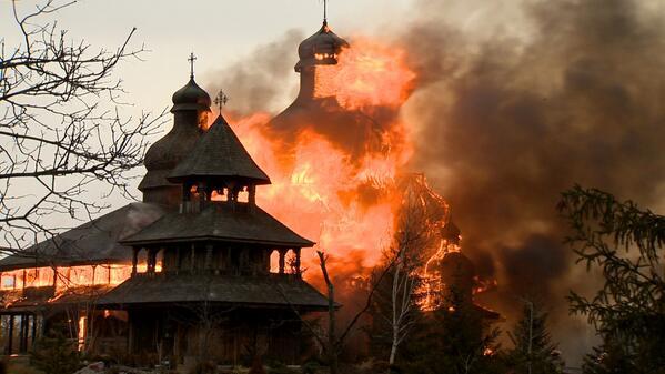 В брамптоне сгорела украинская