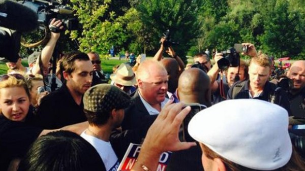 throw eggs at Rob Ford triggers charge