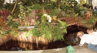 Праздник поездов Нью-Йоркского ботанического сада