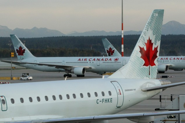 Air Canada Parked
