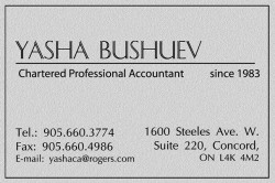Bushuev Yasha  Chartered Accountant