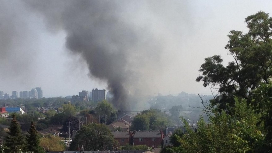 Fire in Toronto