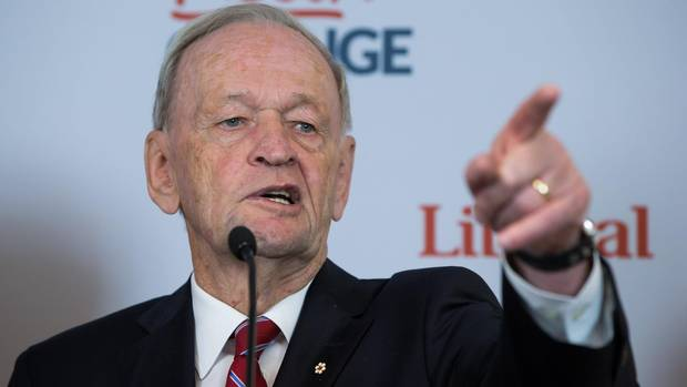 Chrétien's support of Russian intervention in Syria