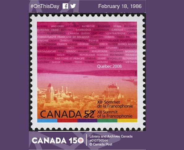В этот день в Канаде. #OnThisDay. Первый саммит франкофонии
