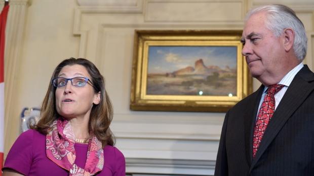 Рекс Тиллерсон обсудил сглавой МИД Канады ситуацию вгосударстве Украина