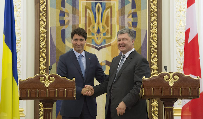 Порошенко встретится сТрюдо входе визита вКанаду