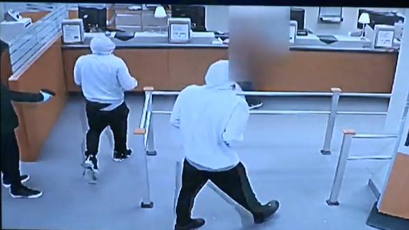 Подозреваются в ограблении банка (видео)