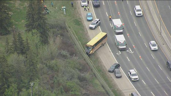 ДТП школьного автобуса в Эдмонтоне: 11 пострадавших детей