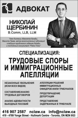 Адвокат Николай Щербинин – B.Comm, LLB, LLM